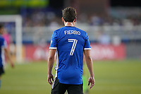 SAN JOSE, CA - JULY 24: Carlos Fierro #7 of the San Jose Earthquakes during a game between Houston Dynamo and San Jose Earthquakes at PayPal Park on July 24, 2021 in San Jose, California.