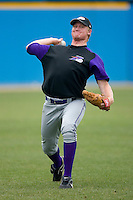 Jacob Rasner #25 of the Winston-Salem Dash throws in the outfield at Pfitzner Stadium June 10, 2009 in Woodbridge, Virginia. (Photo by Brian Westerholt / Four Seam Images)
