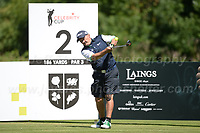 Brandan O'Carroll of Mrs Brown's Boys fame during the Bulmers 2018 Celebrity Cup at the Celtic Manor Resort. Newport, Gwent,  Wales, on Saturday 30th June 2018<br /> <br /> <br /> Jeff Thomas Photography -  www.jaypics.photoshelter.com - <br /> e-mail swansea1001@hotmail.co.uk -<br /> Mob: 07837 386244 -
