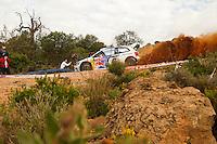 Jari-Matti Latvala and Mikka Anttila, Volkswagen Polo R WRC of VOLKSWAGEN MOTORSPORT during WRC Vodafone Rally de Portugal 2013, in Algarve, Portugal on April 11, 2013 (Photo Credits: Paulo Oliveira/DPI/NortePhoto)