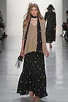 """Model walks runway in an outfit from the Erin Fetherston Fall 2017 """"In Pursuit of Rhapsody"""" collection, at Skylight Clarkson Square on February 9, 2017 at New York Fashion Week: The Shows."""