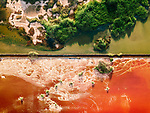 """Aerial photos show the vibrantly coloured landscapes of salt marshes.  Microscopic organisms cause the lakes to turn a reddish-pink colour, which can change if the water is left for some time and not drained.<br /> <br /> The photos of the marshes near Burgas and Pomorie, along the black sea coastline in Bulgaria, were taken by 24 year old photographer Galin Vasilev, who used his drone to capture the scene from above.  Mr Vasilev said: """"These marshes are so salty that no living thing can survive in those conditions - except the organisms which are the cause of the colour.  SEE OUR COPY FOR DETAILS.<br /> <br /> Please byline: Galin Vasilev/Solent News<br /> <br /> © Galin Vasilev/Solent News & Photo Agency<br /> UK +44 (0) 2380 458800"""