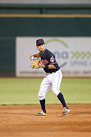 AZL Indians shortstop Tyler Freeman (7) on defense against the AZL Padres on August 30, 2017 at Goodyear Ball Park in Goodyear, Arizona. AZL Padres defeated the AZL Indians 7-6. (Zachary Lucy/Four Seam Images)
