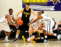 30 January 2010: University at Albany Great Danes' forward Fran Urli (4), a Junior from Zagreb, Croatia, in action against the University of Vermont Catamounts at Patrick Gymnasium in Burlington, Vermont. The Catamounts defeated the Danes 64-46 in the America East matchup. Mandatory Credit: Ed Wolfstein Photo