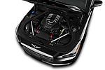 Car stock 2019 Genesis G90 Ultimate 4 Door Sedan engine high angle detail view