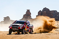 304 De Villiers Giniel (zaf), Haro Bravo Alex (esp), Toyota Hilux, Toyota Gazoo Racing, Auto, Car, action during Stage 3 of the Dakar 2020 between Neom and Neom, 489 km - SS 404 km, in Saudi Arabia, on January 7, 2020  <br /> Rally Dakar <br /> 07/01/2020 <br /> Photo DPPI / Panoramic / Insidefoto