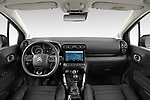 Stock photo of straight dashboard view of 2022 Citroen C3-Aircross Shine 5 Door SUV Dashboard