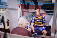 Iljo Keisse (BEL/Deceuninck-QuickStep) returning to his trackside bunk after a race<br /> <br /> zesdaagse Gent 2019 - 2019 Ghent 6 (BEL)<br /> day 2<br /> <br /> ©kramon