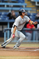Hickory Crawdads third baseman Joey Gallo #30 swings at a pitch during a game against the Asheville Tourists at McCormick Field on April 15, 2013 in Asheville, North Carolina. The Crawdads won the game 6-3. (Tony Farlow/Four Seam Images via AP Images).