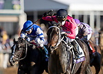 November 6, 2020: Vequist, ridden by Joel Rosario, wins the Juvenile Fillies on Breeders' Cup Championship Friday at Keeneland on November 6, 2020: in Lexington, Kentucky. Alex Evers/Breeders' Cup/Eclipse Sportswire/CSM