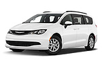 Stock pictures of low aggressive front three quarter view of 2020 Chrysler Voyager LX 5 Door Minivan Low Aggressive