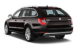 Car pictures of rear three quarter view of a 2015 Skoda SUPERB Elegance 5 Door Wagon 2WD Angular Rear