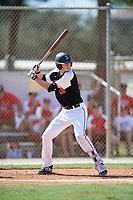 Alex Helmin during the WWBA World Championship at the Roger Dean Complex on October 19, 2018 in Jupiter, Florida.  Alex Helmin is an outfielder from Frankfort, Illinois who attends Providence Catholic High School and is committed to Arizona State.  (Mike Janes/Four Seam Images)
