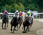August 28, 2021: The field for the Grade 1 H. Allen Jerkens Memorial Stakes enters the stretch at Saratoga Race Course in Saratoga Springs, N.Y. on August 28th, 2021. Dan Heary/Eclipse Sportswire/CSM