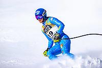 13th February 2021, Cortina, Italy; FIS World Championship Womens Downhill Skiing;  Elena Curtoni of Italy finishes her womens Downhill Race