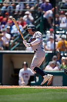 Scranton/Wilkes-Barre RailRiders Clint Frazier (77) at bat during an International League game against the Rochester Red Wings on June 25, 2019 at Frontier Field in Rochester, New York.  Rochester defeated Scranton 10-9.  (Mike Janes/Four Seam Images)