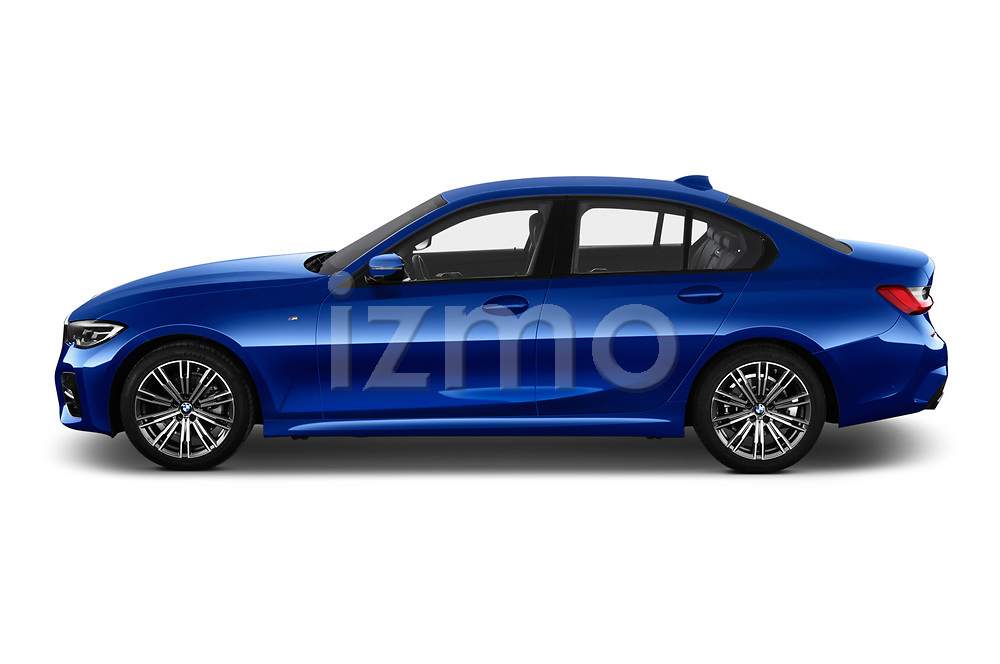 Car Driver side profile view of a 2019 BMW 3-Series M-Sport 4 Door Sedan Side View