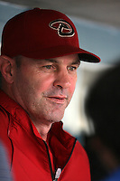 Arizona Diamondbacks manager Kirk Gibson #23 before a game against the Los Angeles Dodgers at Dodger Stadium on September 13, 2011 in Los Angeles,California. Arizona defeated Los Angeles 5-4.(Larry Goren/Four Seam Images)