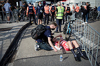 Emma Norsgaard (DEN/Movistar) after finishing<br /> <br /> Women Elite Individual Time Trial from Knokke-Heist to Bruges (30.3 km)<br /> <br /> UCI Road World Championships - Flanders Belgium 2021<br /> <br /> ©kramon