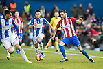 Yannick Ferreira Carrasco (r) of Atletico de Madrid in action during their La Liga match between Atletico de Madrid and Deportivo Leganes at the Vicente Calderón Stadium on 04 February 2017 in Madrid, Spain. Photo by Diego Gonzalez Souto / Power Sport Images