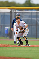 GCL Pirates first baseman Kaleb Foster (23) during a Gulf Coast League game against the GCL Rays on August 7, 2019 at Charlotte Sports Park in Port Charlotte, Florida.  GCL Rays defeated the GCL Pirates 5-3 in the second game of a doubleheader.  (Mike Janes/Four Seam Images)