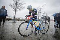 Yoann Offredo (FRA/Wanty Groupe-Gobert) pre-race<br /> <br /> 1st Dwars door West-Vlaanderen 2017 (1.1)