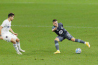 ST PAUL, MN - NOVEMBER 4: Robin Lod #17 of Minnesota United FC controls the ball during a game between Chicago Fire and Minnesota United FC at Allianz Field on November 4, 2020 in St Paul, Minnesota.
