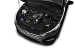 Car Stock 2018 Hyundai Tucson Limited 5 Door Suv Engine  high angle detail view