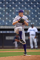 Fort Myers Mighty Mussels pitcher Brent Headrick (35) during a game against the Tampa Yankees on May 19, 2021 at George M. Steinbrenner Field in Tampa, Florida. (Mike Janes/Four Seam Images)