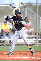Troy Stokes, Jr, #3 of Calvert Hall College School, MD playing for the Evoshield Canes Team during the WWBA World Championship 2013 at the Roger Dean Complex on October 27, 2013 in Jupiter, Florida. (Stacy Jo Grant/Four Seam Images)