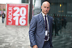 © Joel Goodman - 07973 332324 . 28/09/2016 . Liverpool , UK . STEPHEN KINNOCK arrives for the final day of the Labour Party Conference at the ACC in Liverpool . Photo credit : Joel Goodman