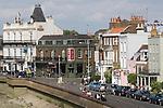 Barnes southwest London Uk. The Terrace road. The wel known jazz venue pub The Bulls Head  on left of image.