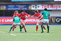 Amy Evans of Wales in action during the Women's Six Nations match between Wales and Ireland at Cardiff Arms Park, Cardiff, Wales, UK. Sunday 17 March 2019