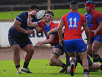 Action from the Auckland premier club rugby match between Ponsonby and Suburbs at Western Springs in Auckland, New Zealand on Saturday, 19 June 2021. Photo: Dave Lintott / lintottphoto.co.nz