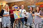Taking part in the very successful 'Painting Picasso - Paint & Sip Night' in The Barracks/Castle by the Sea on Friday night were l-r; Deirdre Geraghty(Co-Ordinator-Artist), Alison Dowling, Kerri Dowling, Tony White(Organiser), Áine & Gráine O'Shea.