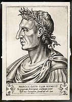 MARCUS PORCIUS CATO known as The Censor,The Elder  Roman statesman / Unattributed engraving / 234 - 149 BC