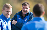 St Johnstone Training….28.10.16<br />Manager Tommy Wright pictured during training this morning at McDiarmid Park ahead of tomorrow's game against Partick Thistle.<br />Picture by Graeme Hart.<br />Copyright Perthshire Picture Agency<br />Tel: 01738 623350  Mobile: 07990 594431