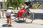 Asakusa rickshaw tour for a young family, Tokyo, Japan