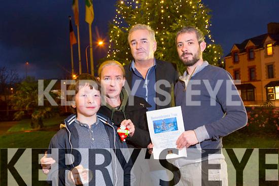 Joshua Roche, Sharon Roche, Frank Hartnett, David Roche. launch the Remembrance Tree on  Sunday December 14th 3pm at the  Town Hall Princess Street Tralee.