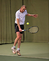 Hilversum, The Netherlands, 05.03.2014. NOVK ,National Indoor Veterans Championships of 2014, Martin Koek (NED)<br /> Photo:Tennisimages/Henk Koster