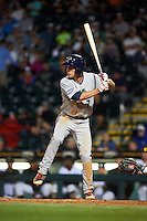 Fort Myers Miracle second baseman Ryan Walker (7) at bat during a game against the Bradenton Marauders on April 9, 2016 at McKechnie Field in Bradenton, Florida.  Fort Myers defeated Bradenton 5-1.  (Mike Janes/Four Seam Images)