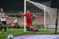 O's Danny Johnson scores O's 1st foal and celebrates during Port Vale vs Leyton Orient, Sky Bet EFL League 2 Football at Vale Park on 28th November 2020
