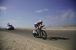 Mattias Jensen (DEN) Trek-Segafredo during Stage 2 of the 2021 UAE Tour an individual time trial running 13km around  Al Hudayriyat Island, Abu Dhabi, UAE. 22nd February 2021.  <br /> Picture: Eoin Clarke | Cyclefile<br /> <br /> All photos usage must carry mandatory copyright credit (© Cyclefile | Eoin Clarke)