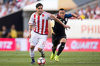 Action photo during the match United States vs Paraguay, Corresponding to  Group -A- of the America Cup Centenary 2016 at Lincoln Financial Field Stadium.<br /> <br /> Foto de accion durante el partido Estados Unidos vs Paraguay, Correspondiente al Grupo -A- de la Copa America Centenario 2016 en el Estadio Lincoln Financial Field , en la foto: (i-d) Gustavo Gomez de Paraguay y Bobby Woodd de USA<br />  <br /> <br /> 11/06/2016/MEXSPORT/Osvaldo Aguilar.