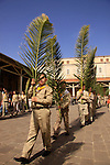 Israel, Lower Galilee, Palm Sunday ceremony at the Church of the Annunciation in Nazareth