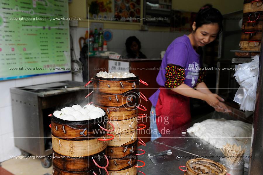 CHINA province Guangdong, city Guangzhou, dumplings / VR CHINA , Metropole Guangzhou Kanton, dumplings, Maultaschen