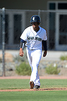 Seattle Mariners outfielder Gareth Morgan (15) during an Instructional League game against the Milwaukee Brewers on October 4, 2014 at Peoria Stadium Training Complex in Peoria, Arizona.  (Mike Janes/Four Seam Images)