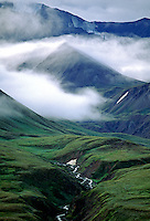 Mist rises above the ALAKSA RANGE - DENALI NATIONAL PARK, ALASKA