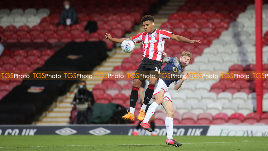 Brentford's Ollie Watkins controls the ball during Brentford vs Barnsley, Sky Bet EFL Championship Football at Griffin Park on 22nd July 2020