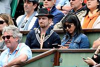 Internationaux de France de tennis de Roland-Garros - Paris - Mathias Malzieu en tribune